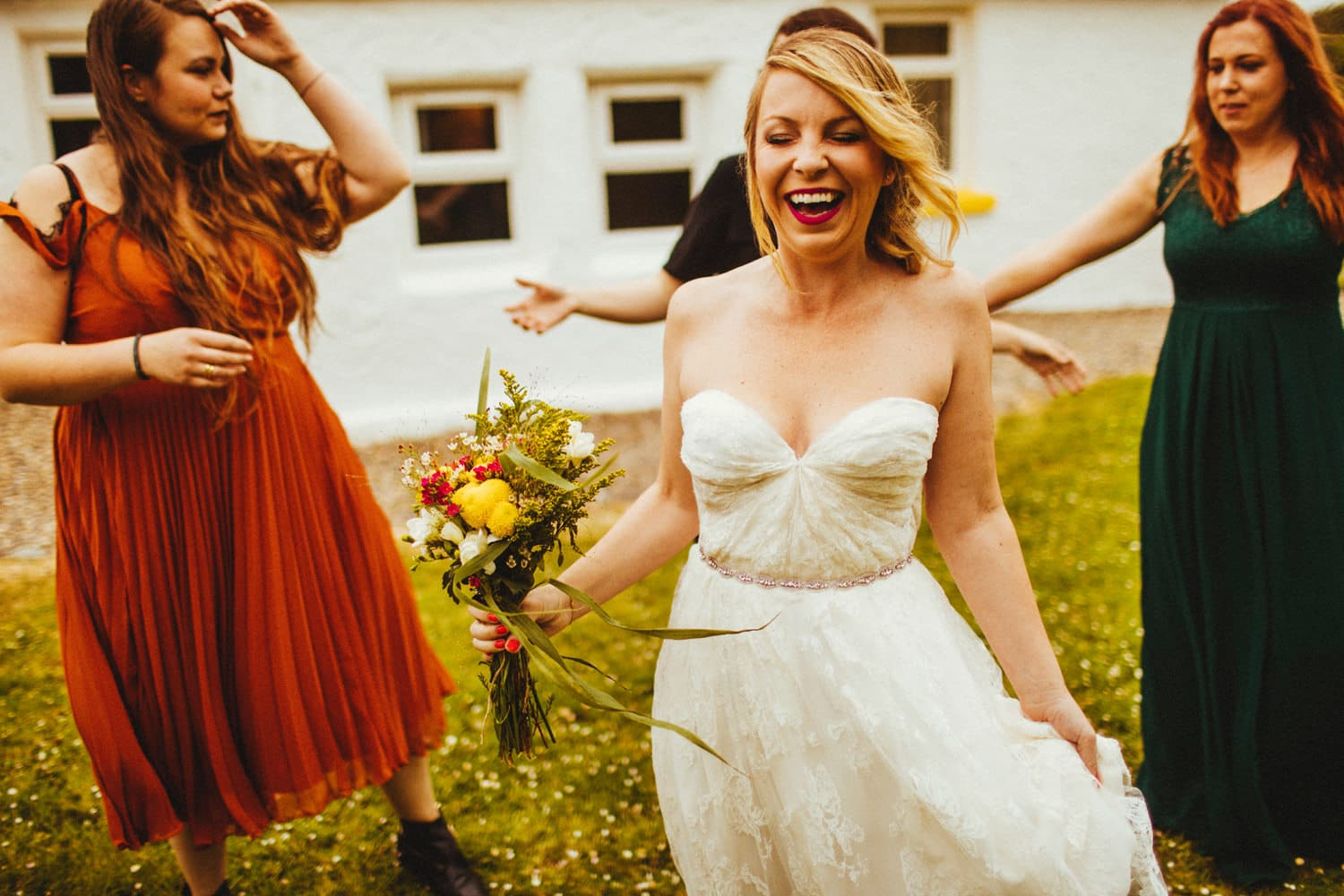 yellow cottage wedding