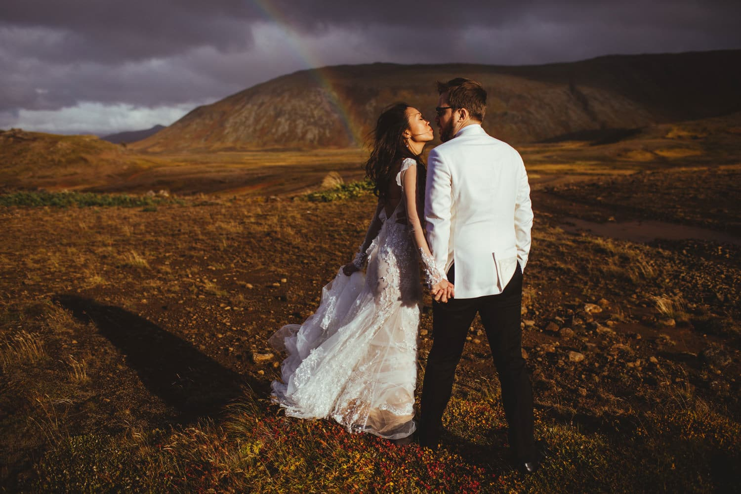 iceland wedding rainbow