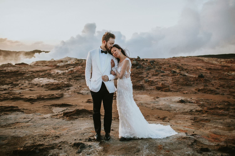 iceland wedding steam