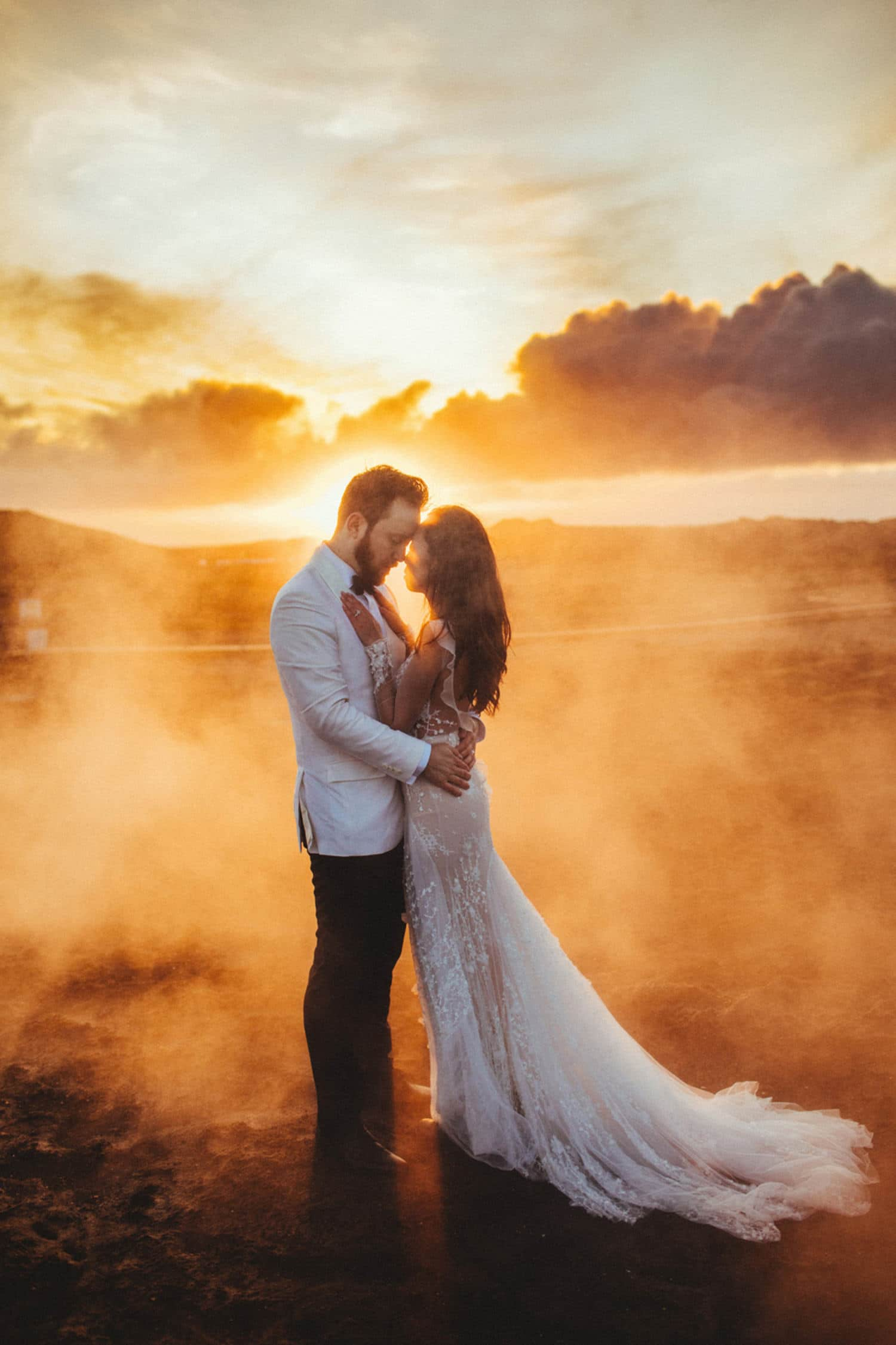 iceland wedding steam