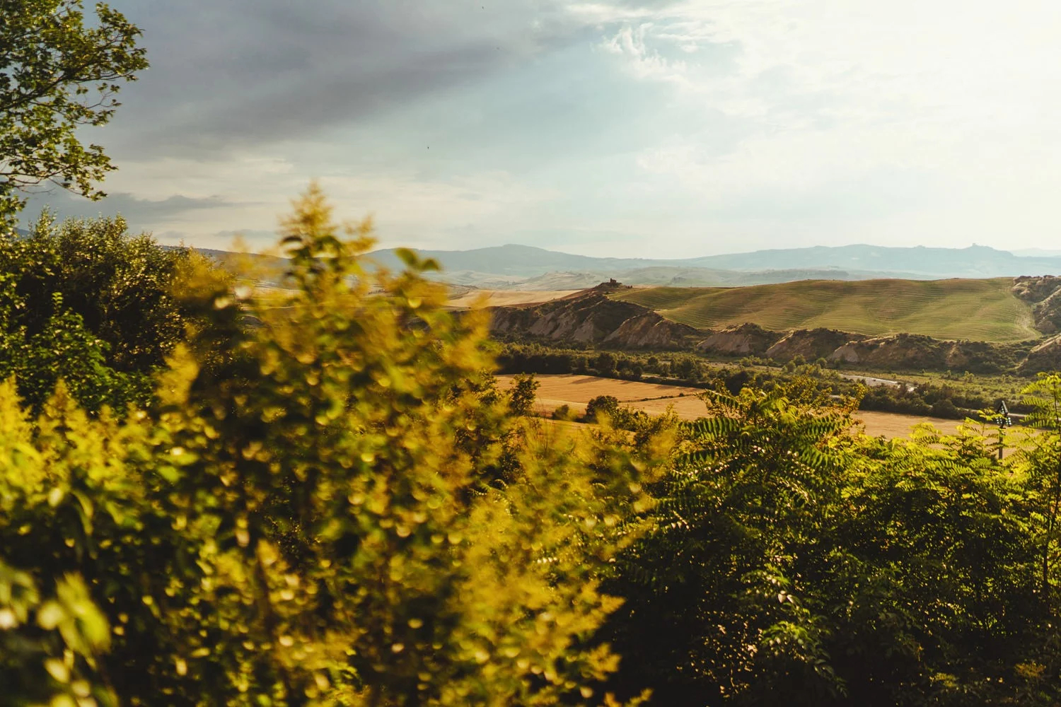 A beautiful view of Tuscany from Borgo Di Castelvecchio wedding venue.